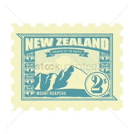 Vintage : New zealand postage stamp design