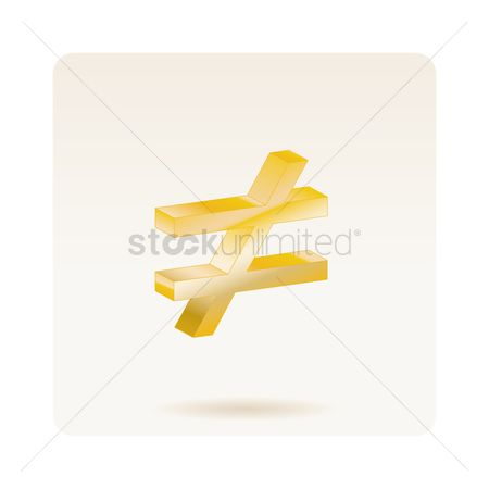 Free Not Equal Sign Stock Vectors Stockunlimited