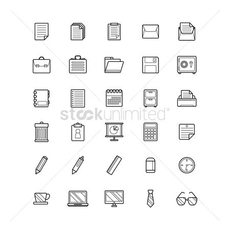 Stationary : Office icon set