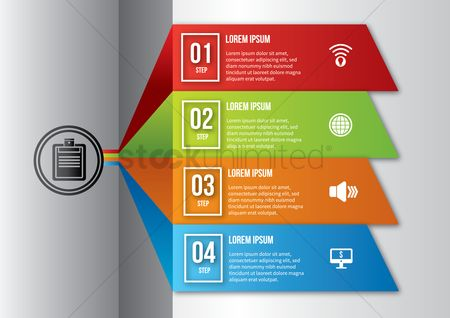 Electronic : Office infographic