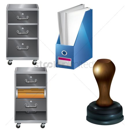 Portfolio : Office items set