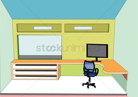Interior background : Office room