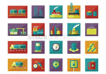 Fuel : Oil and gas icons