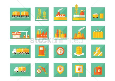 Nuclear : Oil and gas icons