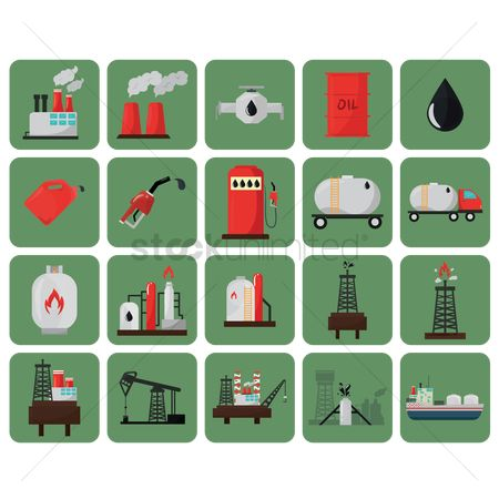 Drips : Oil and gas icons