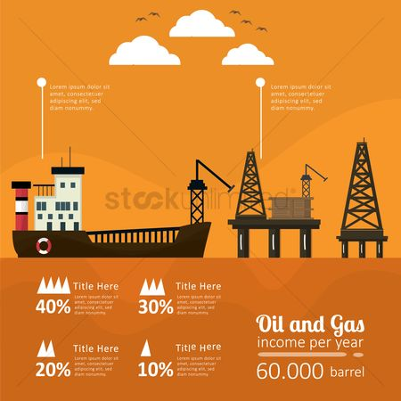 Gases : Oil and gas infographic
