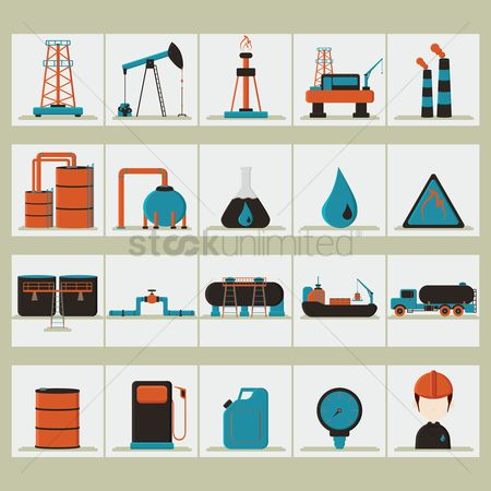 Gases : Oil and gas set