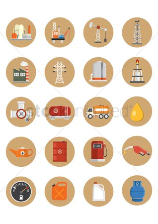 Jack : Oil gas icon set