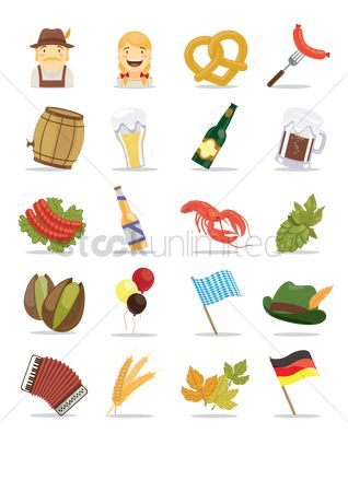 Sausage : Oktoberfest icon set