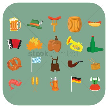 Hotdogs : Oktoberfest icons