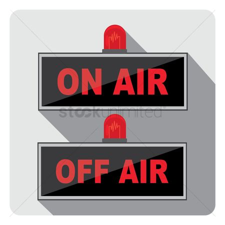 Broadcasting : On air and off air sign
