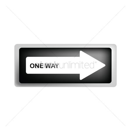 Attention : One way road sign