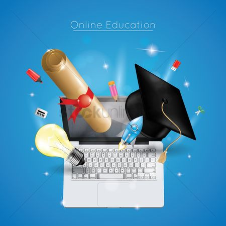 Highlighters : Online education concept