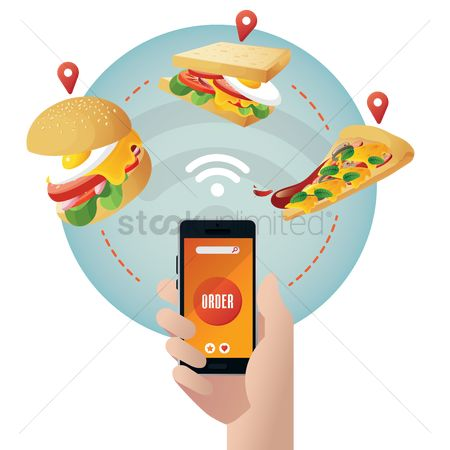 Pizza delivery : Online food ordering concept