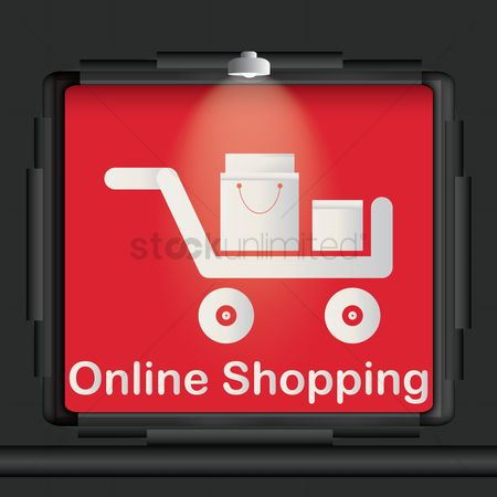 Lighting : Online shopping advertisement board