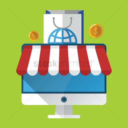 Currencies : Online shopping concept