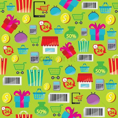 Gifts : Online shopping theme background