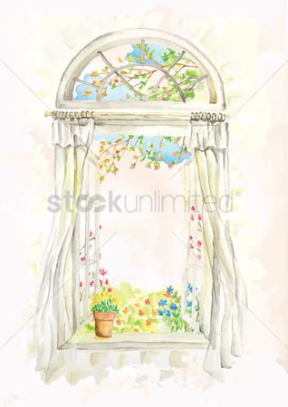 Spring : Open window sill design