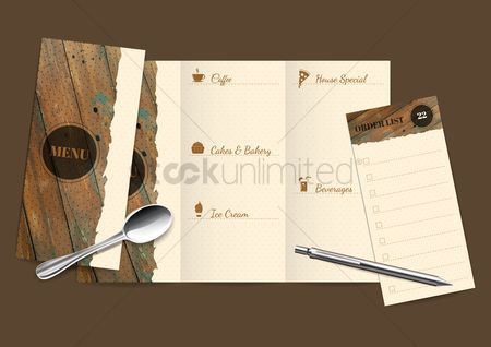 Checklists : Opened menu with spoon and order list