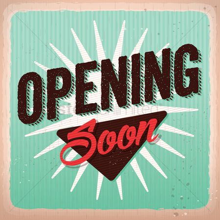 Old fashioned : Opening soon background