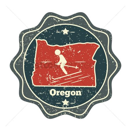 Oregon : Oregon map label