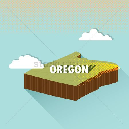Oregon : Oregon map