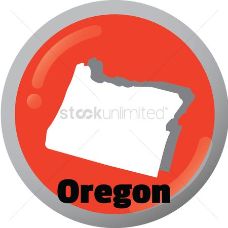 Oregon : Oregon state map