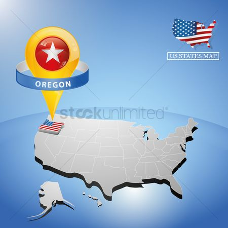 Oregon : Oregon state on map of usa