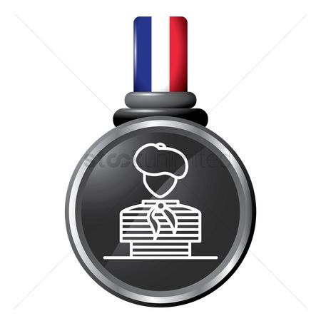 Beret : Painter in a medal