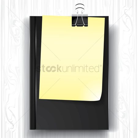 Supply : Paper and book with binder clip