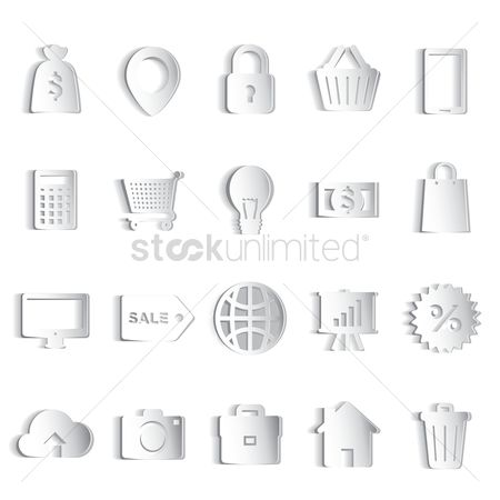 Discounts : Paper icons