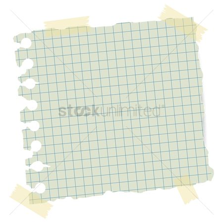 Grids : Paper with adhesive tape