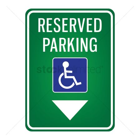 Attention : Parking reserved for handicap signboard