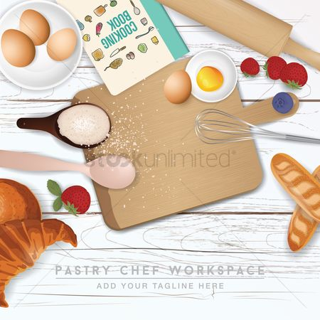 Cook : Pastry chef workspace