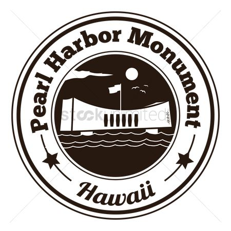 Hawaii : Pearl harbor monument label