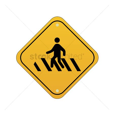 Attention : Pedestrians road sign