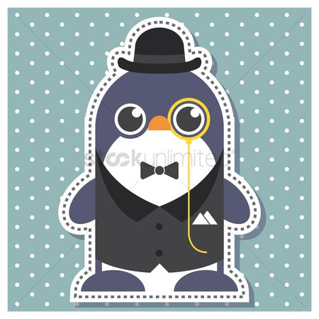 Background : Penguin as a gentleman