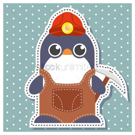 Pick axe : Penguin as a miner