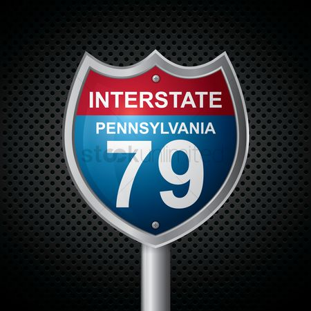 Interstates : Pennsylvania 79 route sign