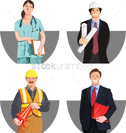 Workers : People from various professions