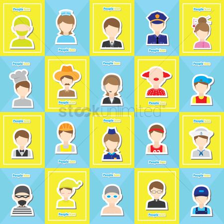 Surgeon : People icon set