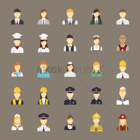Builder : People icon set