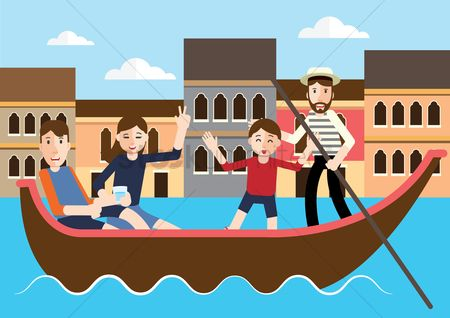 Paddle : People on gondola