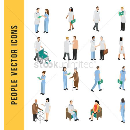 Wheelchair : People vector icons