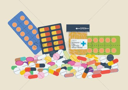 Medicines : Pills and tablets