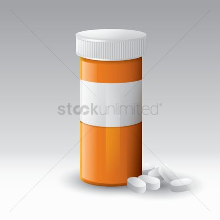 Medicines : Pills bottle