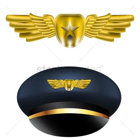 Free Pilot Hat Stock Vectors | StockUnlimited