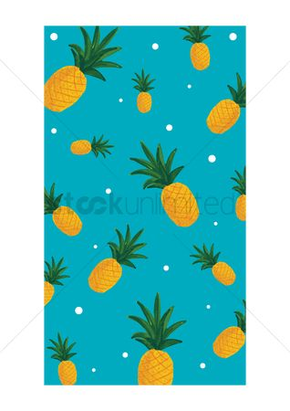 Summer : Pineapple mobile interface wallpaper