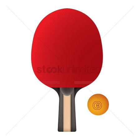 Indoor : Ping pong bat and ball