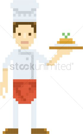Serve : Pixel art chef